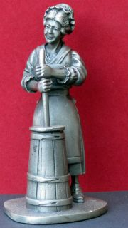Franklin Mint 1974 Pewter The Butter Churner 4