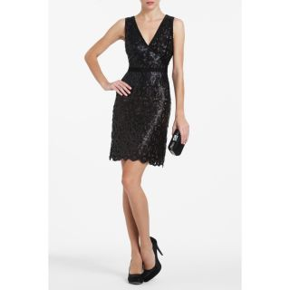BCBG MAXAZRIA WOMENS GABRIELLE SEQUINED DRESS