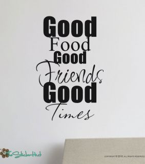 Good Food Good Friends Vinyl Wall Art Decal Sticker 856