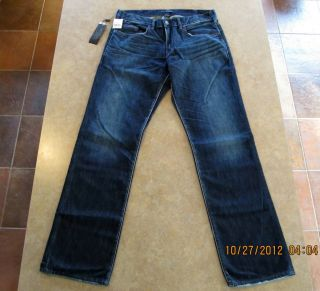 New Mens Silver Jeans   Garner 32x32   Straight Medium Wash   2012