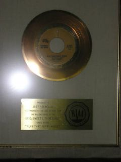 Wild Cherry Play That Funky Music 45 Gold Record Award Framed