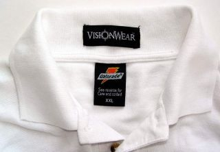 Gatorade Mens White Cotton Golf Polo Shirt Size 2XL XXL Excellent