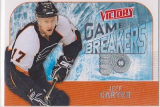 2009 10 Jeff Carter Victory Game Breakers Insert Card GB17 NM MT