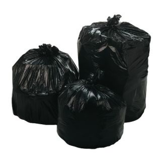 100 45 Gallon Black Trash Canliners Can Liners Garbage Bags 30MIC 1