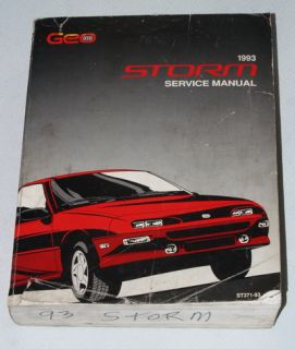 1993 Chevrolet Geo Storm GSI Coupe Factory Dealer Shop Service Repair