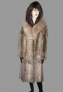 Leopard Print Geoffroys Cat Leopardus Geoffroyi Fur Coat Lynx Small