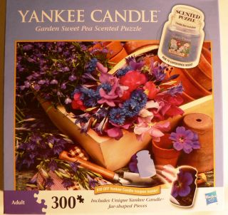 Garden Sweet Pea Scented Yankee Candle 300 Piece Puzzle NEW Still