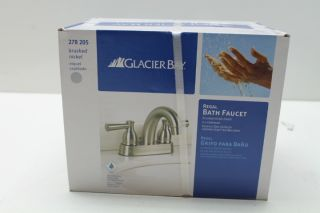 Glacier Bay Regal Brushed Nickel 4 Centerset Bathroom Sink Faucet