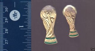 World Cup 2006 Germany Soccer Trophy 2 Gold Color Pins