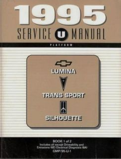 1995 GM Mini Vans Factory Service Manual Set 2 Books