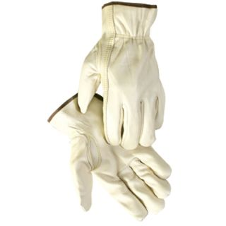 Cow Grain Soft White Leather Driving Gloves Large 12 Pack