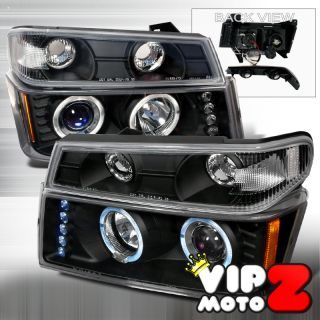 04 12 Chevy Colorado GMC Canyon Halo LED Projector Headlight Corner
