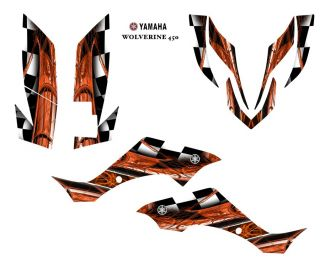 Yamaha Wolverine 450 ATV Graphic Decal Sticker Kit 2001ORANGE