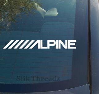 Alpine Vinyl Decal Sticker Car Audio Speakers Custom