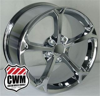 17x8 5 18x9 5 Corvette C6 Grand Sport Replica Chrome Wheels Rims Fit