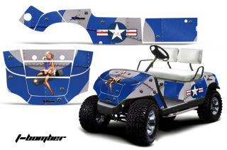 Yamaha Golf Cart Parts Graphic Kit Wrap AMR Racing Decals 95 06 Model