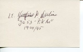 Gottfried Dulias WWII War German Ace Signed Autograph