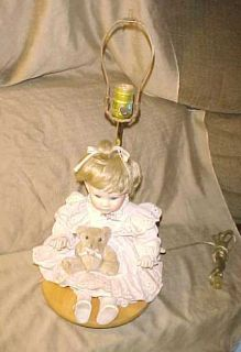 1980s Porcelain Doll Table Lamp for Girls Room Nice Look Needs Some