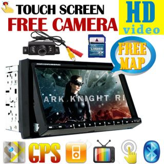 Double 2 DIN Car DVD Player Navi GPS Map 7 iPod  4 Radio USB SD