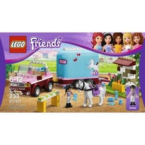 Friends Emmas Horse Trailer Girls Building Set 218 Pieces Toy NEW