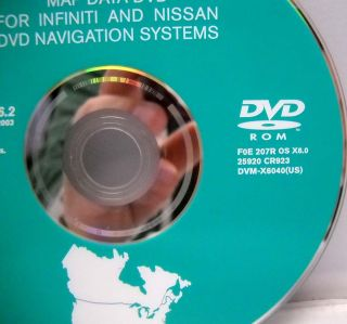 INFINITI Q45 GPS Navigation Map Disc DVD 6 2 Factory OEM software map