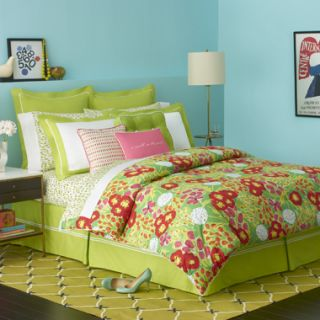 Kate Spade Garden Grove Lime Green Queen Sheet Set