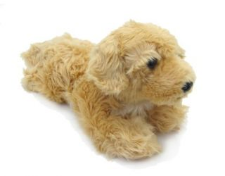 Aurora Plush Golden Retriever Tan Puppy Dog Goldy Stuffed Animal Toy