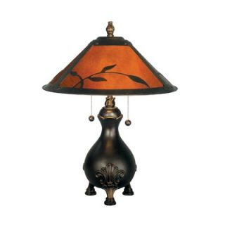 Dale Tiffany Mica Leafs 2 Light Table Lamp