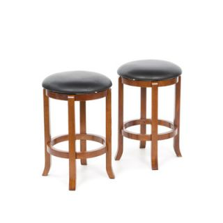 Winsome 24 Faux Leather Swivel Stool in Antique