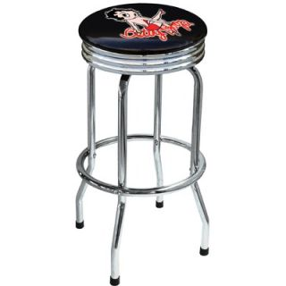 On The Edge Marketing Betty Boop 29.5 Chrome Swivel Barstool