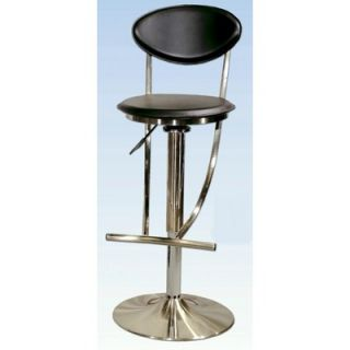 Chintaly Adjustable Swivel Stool with Rectangular Seat in White