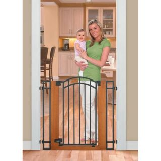 Stylish & Secure Extra Tall Wood and Metal Walk ThruGate