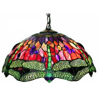 Warehouse of Tiffany Dragonfly 2 Light Hanging Pendant   305C