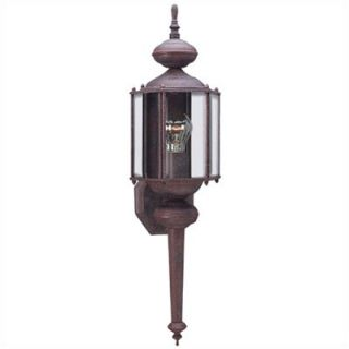 Sea Gull Lighting Classic Outdoor Wall Lantern in Sienna