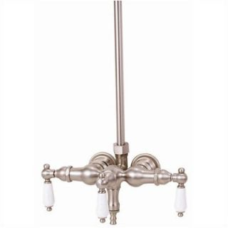 Elizabethan Classics Wall Mount Tub Faucet with Porcelain Lever