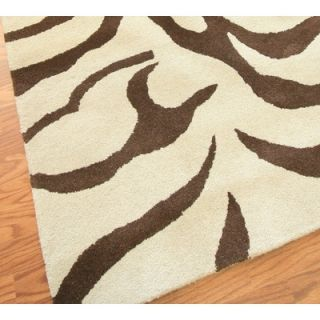 nuLOOM Safari Zebra Brown Rug   D302ZEBBRN