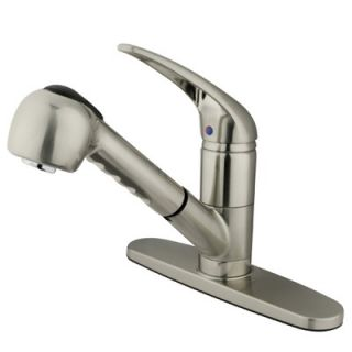 Elements of Design Daytona Single Handle Centerset Kitchen Faucet with