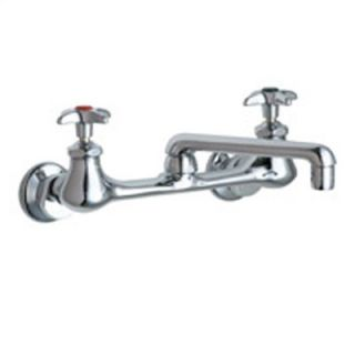 Chicago Faucets Laboratory Wall Mounted Sink Faucet with Cast Swing