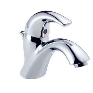 Delta C Spout Series Single Hole Bathroom Faucet with Single Handle