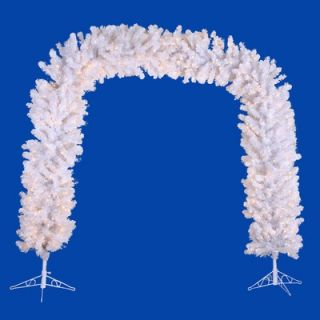 Vickerman Crystal White 8 Artificial Arch Tree with Clear Lights