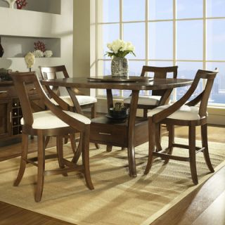 Somerton Gatsby Pub Table in Medium Brown   422 68T / 422 68B