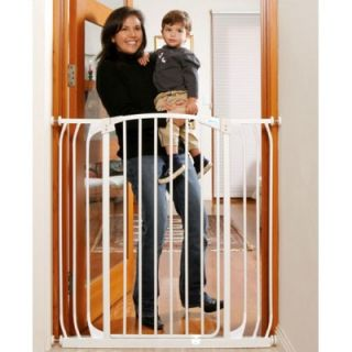 Dream Baby Extra Tall Hallway Swing Closed Saftey Gate in White