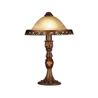 Dale Tiffany Lowther Table Lamp in Antique Pewter / Gold   TT101087