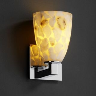 Justice Design Group Alabaster Rocks Modular One Light Wall Sconce
