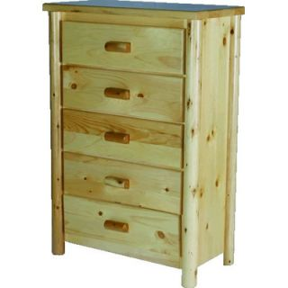 Moon Valley Rustic Nicholas 5 Drawer Chest
