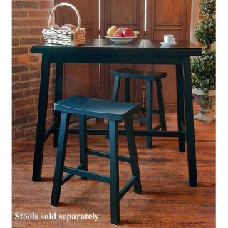 Crosley Three Piece Pub Dining Set with Cabriole Leg Table and X Back