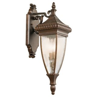 Kichler Venetian Rain Outdoor Wall Lantern in Bronze   49131BRZ