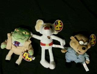 Soft Plush Dangermouse Penfold Greenback Beanies