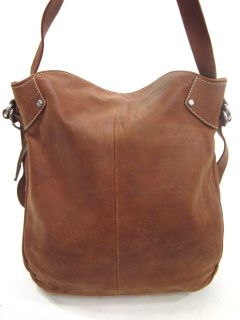 Francesco Biasia Brown Leather Hobo Shoulder Handbag