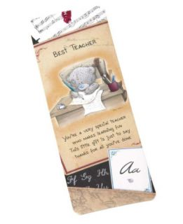 Me to You Best Teacher Bookmark Tatty Teddy Bear New Gift